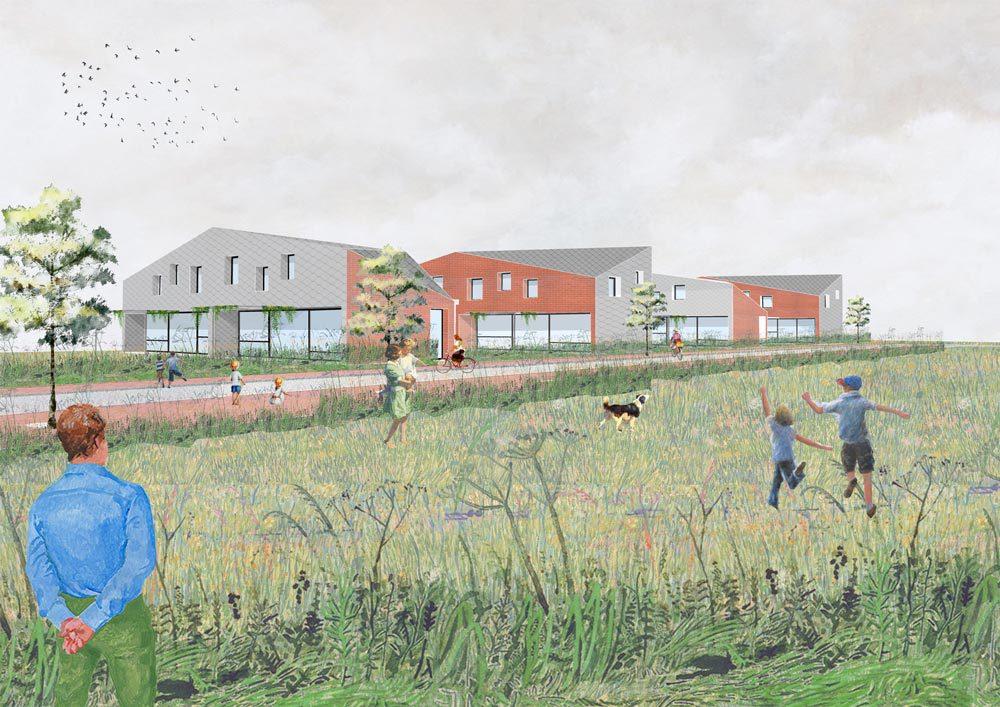 Wedstrijdontwerp sociale woningen in Wespelaar
