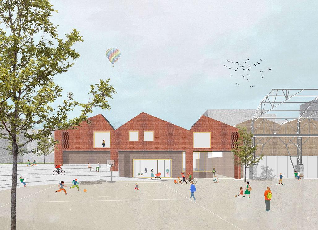 ZAmpone & L'escaut winnen architectuurwedstrijd Libelco - Petit Senne
